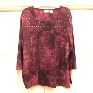 Alfred Dunner Beaded Top
